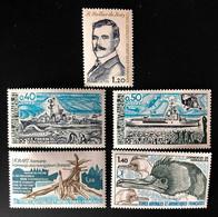 TAAF Yvert N° 74 à 78, Année Poste 1978 Complète, Timbres Magnifiques, 5 Valeurs - Unused Stamps