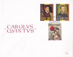 2 Scans Enveloppes FDC 2887 à 2889 + Bloc 85 Carlov Qvintvs Charles Quint - 1991-00