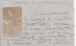 34/ Bedarieux Carte Photo D 'un Personnage En 1907 - Bedarieux