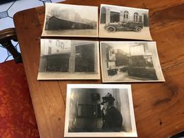 76 LE HAVRE LOT 5 PHOTOS CASERNE SAPEUR POMPIER VEHICULE ECHELLE TORPEDO STANDARD TELEPHONIQUE - Bombero