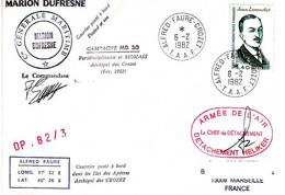 FSAT TAAF Marion Dufresne. 06.02.82 Crozet OP 82/3 Heliker Helicoptère - Cartas