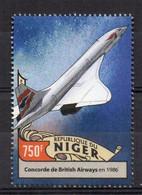 British Aerospace. British Airways Concorde In 1986 - (Niger 2016) MNH (2W09113) - Vliegtuigen