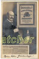 Echtfoto-Werbekarte Deinhard Schaumweinkellerei Koblenz, Mann Mit Sekt, Um 1900 - Koblenz