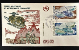 TAAF Yvert N° 92 à 93, Enveloppe 1er Jour - Covers & Documents