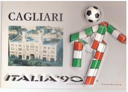 CAGLIARI 39 MONDIALI DI CALCIO ITALIA '90 -  CARTOLINA A RILIEVO - Football