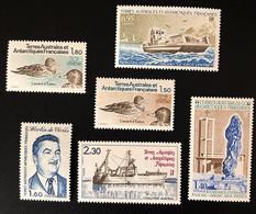 TAAF Yvert N° 95 à 100, Année Poste 1982 Complète, Timbres Splendides, 6 Valeurs - Unused Stamps