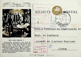 1960 Inteiro Postal Tipo «Conheça A Sua História» De 50 C. Enviado De Espinho Para Lisboa - Ganzsachen