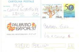 CARTOLINA POSTALE PALERMO EXOFIL97 - Stamped Stationery