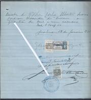 Recibo Reconhecido Com 3 Stamps Fiscais De 1931. Selo De Imposto De Selo Com Sobrecarga De Taxa E Estampilha. - Portugal