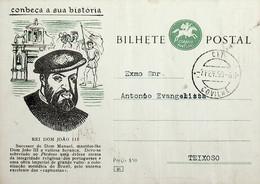 1958 Inteiro Postal Tipo «Conheça A Sua História» De 50 C. Enviado Da Covilhã Para O Teixoso - Ganzsachen