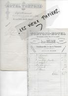 14 - Calvados - TROUVILLE-SUR-MER - Facture DELAGE - Hôtel Tortoni - 0000 - REF 184A - 1900 – 1949