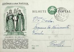 1958 Inteiro Postal Tipo «Conheça A Sua História» De 50 C. Enviado Da Covilhã - Ganzsachen
