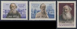 Soviet Unie CCCP Russia 1960 Mi 2413 /5 YT 2346 /8 SG 2502 /4 ** Lew Tolstoj Schriftsteller / écrivain / Writer - Scrittori