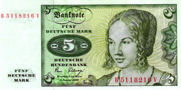 Ro 285a 5 Mark 1980 Serie B/V - 5 Deutsche Mark