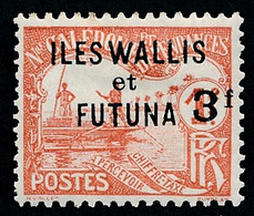 WALLIS ET FUTUNA 1927 - Yv. Taxe 10 *   Cote= 20,00 EUR - Taxe Surchargé 3f Sur 1f  ..Réf.W&F23126 - Postage Due