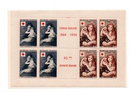 France -   Carnet Croix Rouge - 1954 - Neufs * -  Prix  Depart 0.99 E  -  Cote 180 Euros -  Philatelie° PH - Rode Kruis