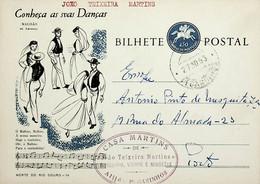 1963 Inteiro Postal Tipo «Conheça As Suas Danças» De 50 C. Enviado De Pegatinhos (Alijó) Para O Porto - Ganzsachen