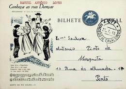1963 Inteiro Postal Tipo «Conheça As Suas Danças» De 50 C. Enviado De Macedo De Cavaleiros Para O Porto - Ganzsachen