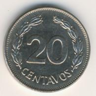 ECUADOR 1972: 20 Centavos, KM 77.1c - Ecuador