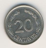 ECUADOR 1966: 20 Centavos, KM 77.1c - Ecuador