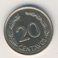 ECUADOR 1962: 20 Centavos, KM 77.1c - Ecuador