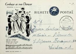 1963 Inteiro Postal Tipo «Conheça As Suas Danças» De 50 C. Enviado De Setúbal Para Lisboa - Ganzsachen