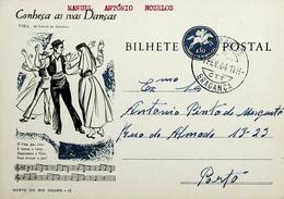 1964 Inteiro Postal Tipo «Conheça As Suas Danças» De 50 C. Enviado De Setúbal Para O Porto - Ganzsachen