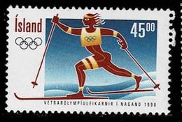 Island 1998,Michel# 883 O Olympic Games- Nagano - Gebraucht