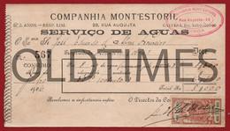 PORTUGAL -  LISBOA - COMPANHIA MONT'ESTORIL - SERVIÇO DE AGUAS - 1906 INVOICE - Portugal
