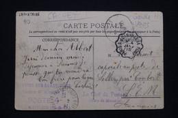 FRANCE - Cachet De Garde Voies De Mandres Sur Carte Postale ( Brie Comte Robert ) En FM Pour Soller En 1915 - L 93021 - Oorlog 1914-18