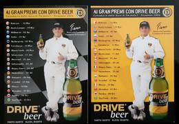 Giancarlo Fisichella F1 Driver Lot De 2 Carte Postale - Grand Prix / F1