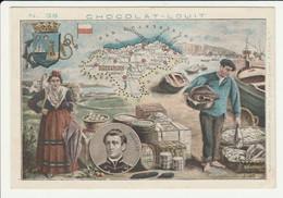 CHROMO  Chocolat LOUIT  ESPAGNE  SANTANDER  VELARDE   GEOGRAPHIE COSTUMES  HISTOIRE  SPAIN - Louit