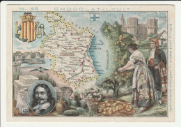 CHROMO  Chocolat LOUIT  ESPAGNE ORENSE    GEOGRAPHIE COSTUMES  HISTOIRE  SPAIN - Louit