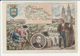CHROMO  Chocolat LOUIT  ESPAGNE  LOGRONO     GEOGRAPHIE COSTUMES  HISTOIRE  SPAIN - Louit