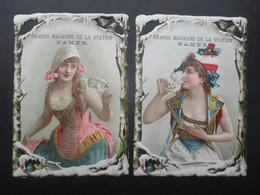 LOT 2 CHROMOS DECOUPIS (V2102) NAMUR (2 Vues) EMILE LAPEYRE - GRAND MAGASIN DE LA STATION * Rue Mathieu, 13 * Parfumerie - Altri