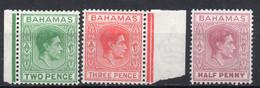 BAHAMAS/1951-52/MH/SC#154-6/KING GEORGE VI / KGVI / COMPLETE SET - 1859-1963 Kronenkolonie