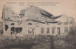 CPA - BELGIQUE - WESTOUTRE - Ruines La Maison R. Slauw Bider - Unclassified