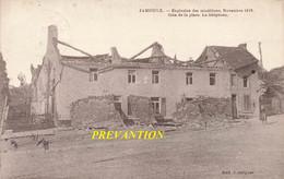 JAMIOULX - Explosion Des Munitions, Novembre 1918 - Coin De La Place. Le Téléphone - Carte Circulé En 1924 - Ham-sur-Heure-Nalinnes