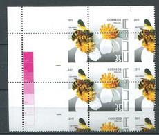 CUBA 2011  Bees  Abeille  ERROR Variete Decalage Perforation Bloc De 4 - Neuf ** (MNH) Sans Trace De Charniere - Unclassified
