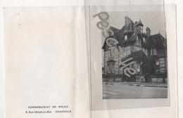 14 CALVADOS - CARTE DE VOEUX COMMISSARIAT DE POLICE 8 RUE DESIRE LE HOC - DEAUVILLE - 1967 - Deauville