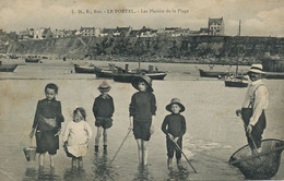 Plaisirs De La Plage Le Portel Enfants Au Bain  Peche Crevette - Giochi, Giocattoli