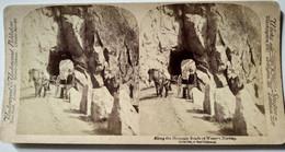 NORVÈGE - PHOTO STÉRÉO - Along The Mountains Roads Of Western Norway - 1894 - Underwood - TBE - Stereoscopio