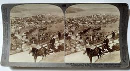 NORVÈGE - PHOTO STÉRÉO - Vue De Bergen - Attelage - Belle Vue - - Underwood - TBE - Stereoscopio