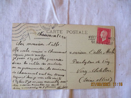 Viry Chatillon Seine Et Oise   Griffe Marque Lineaire Obliteration Fortune Lettre - 1921-1960: Periodo Moderno