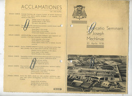 Mechelen - Malines  :  Seminarie  St. Joseph  1936   (  Zie Scans Voor Detail ) - Menus