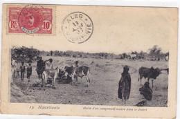 Mauritanie - Halte D'un Campement Maure Dans Le Désert - Mauretanien