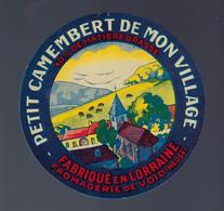 Ancienne étiquette Fromage Petit Camembert De Mon Village  40%mg  Fromagerie De Void Meuse 55 - Cheese