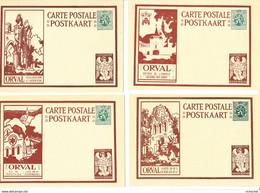 Belgique - Cartes Illustrées Commémorative 35c. Série N° 5 - Orval Avec Ange Dans Le Coin Inférieur Droit; Série De 12 - Illustrierte Karten