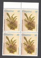 Guyana, 1985, Orchids, MNH Block, Michel 1490 - Guiana (1966-...)