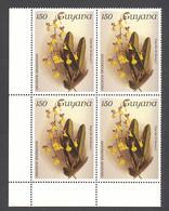 Guyana, 1986, Orchids, MNH Block, Michel 1538 - Guiana (1966-...)